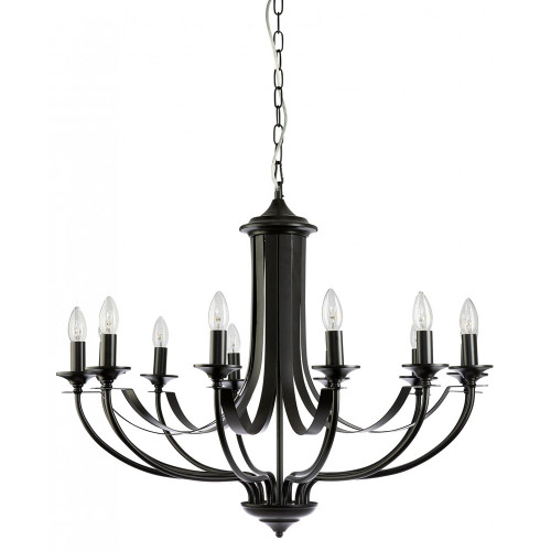 Cannes 12 Light Black Chandelier