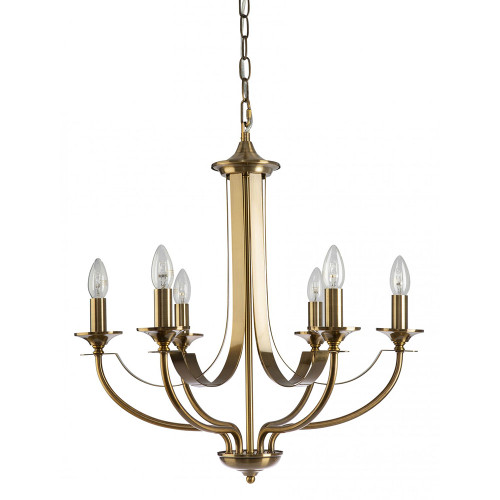 Cannes 6 Light Bronze Chandelier