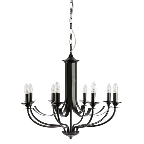 Cannes 8 Light Black Chandelier