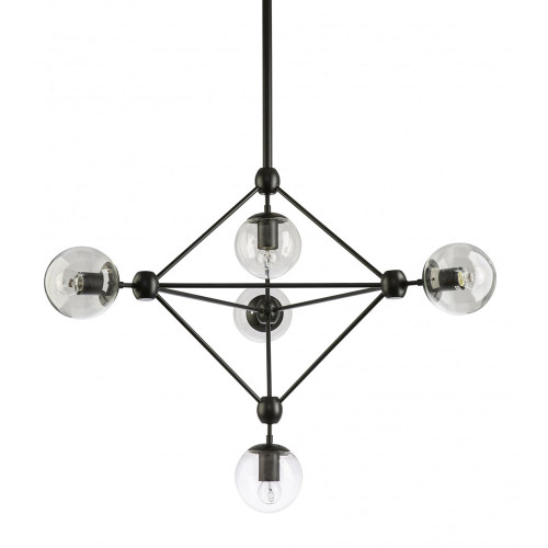 Replica Modo 5 Light Diamond Chandelier - Black