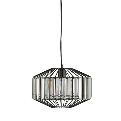 Lex Black Crystal Drops Pendant Light