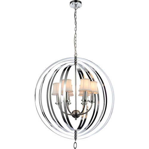 Antico 6 Light Chrome Orb Chandelier