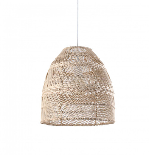 Beige Dome Egg Bamboo Pendant Light