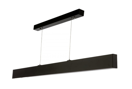 Milano 120 Linear Rectangle Bar Pendant Light - Black