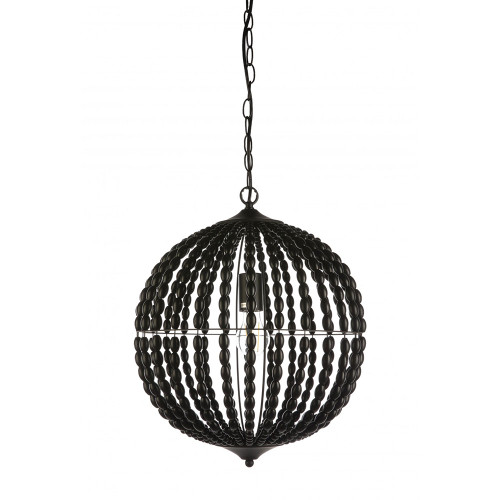 Black Orb Beaded Pendant Chandelier