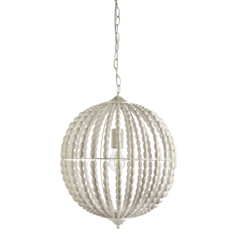 White Orb Beaded Pendant Chandelier