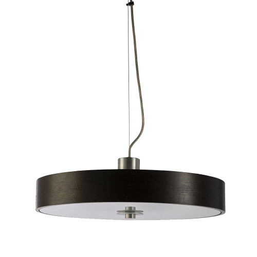 Modern Slim Dark Wood Disc Pendant Light