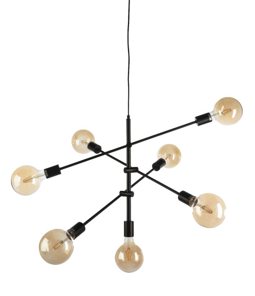 Radiant 7 Light Black Pendant Light