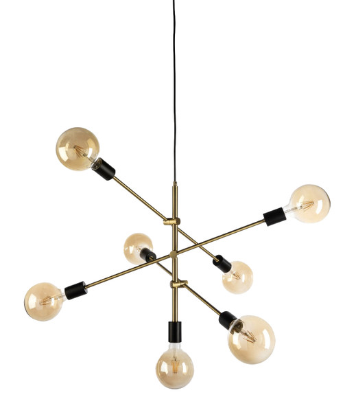 Radiant 7 Light Gold Pendant Light