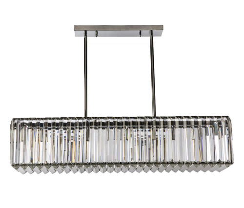 Modern 5 Light Cystal Bar Pendant Light - Chrome