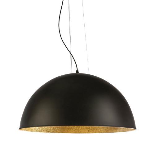 Modern Dome Black Gold 3 Light Pendant Light