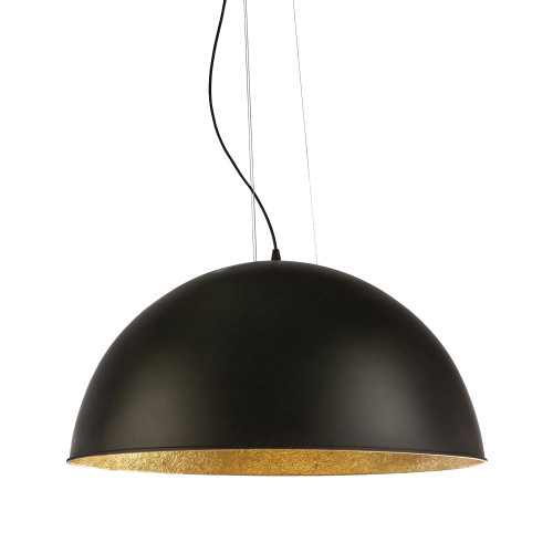 Modern Dome Black Gold 3 Light Pendant Light