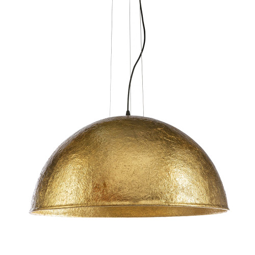 Modern Dome Rugged Gold 3 Light Pendant Light