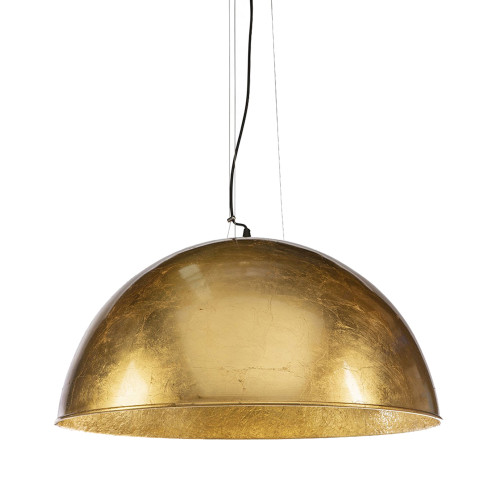 Modern Dome Smooth Gold 3 Light Pendant Light
