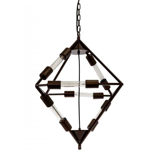 Net Diamond Brown Pendant Light