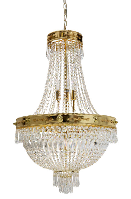 Empiro 12 Light Gold Crystal Chandelier