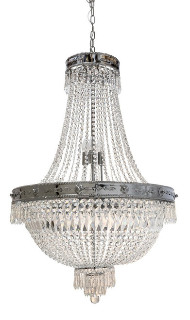 Empiro 14 Light Chrome Crystal Chandelier