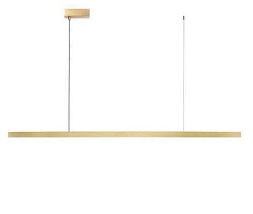 Flam LED Brass Linear Pendant Light