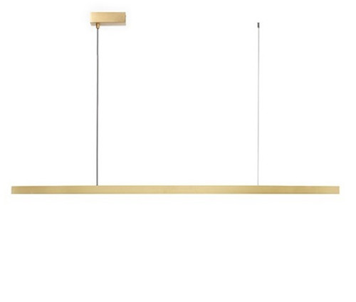 Flam LED Brass Linear Pendant Light