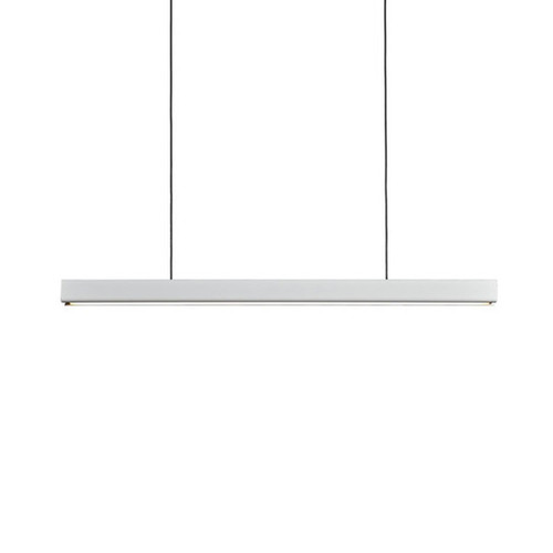LUND LED Matt White Linear Pendant Light