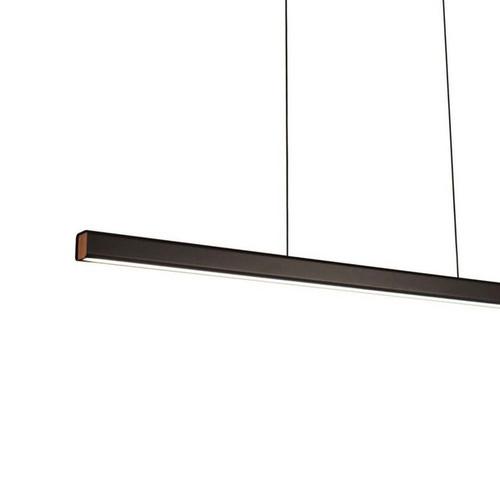 LUND LED Matt Black Linear Pendant Light