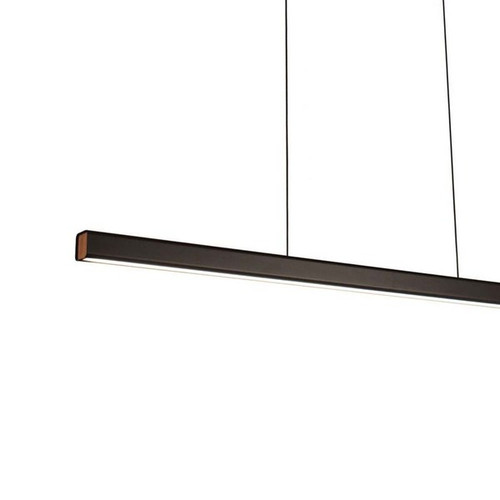 LUND LED Matt Black Linear Pendant Light