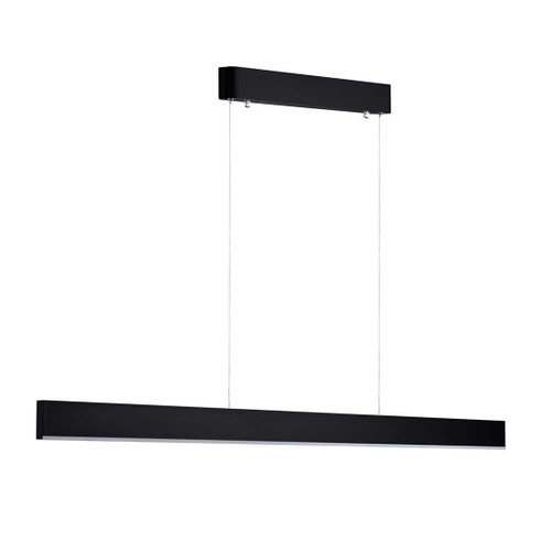 Sword LED Linear Black Pendant Light