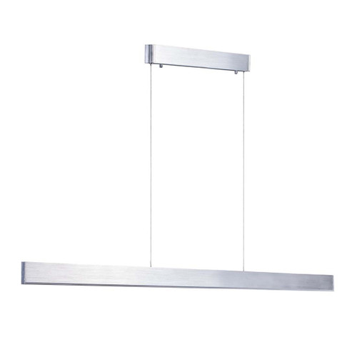 Sword LED Linear Brushed Chrome Pendant Light