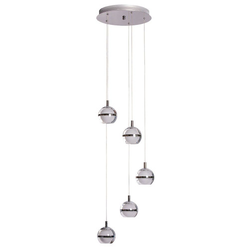 Pod LED 5 Light Cluster Pendant Light - Lights Off