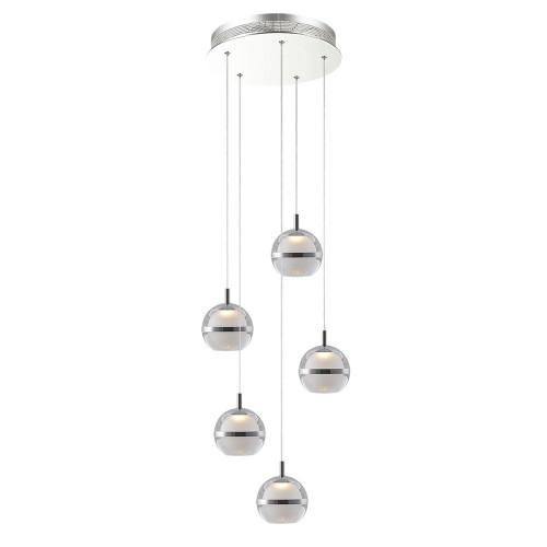 Pod LED 5 Light Cluster Pendant Light