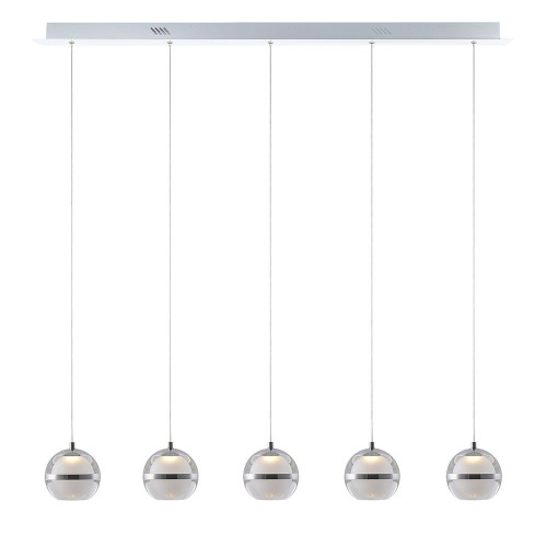 Pod LED 5 Light Bar Pendant Light