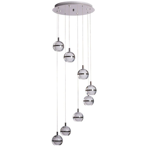 Pod LED 8 Light Cluster Pendant Light