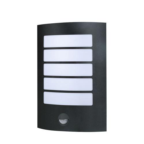 Stark Stainless Steel Wall Light - Sensor, Black
