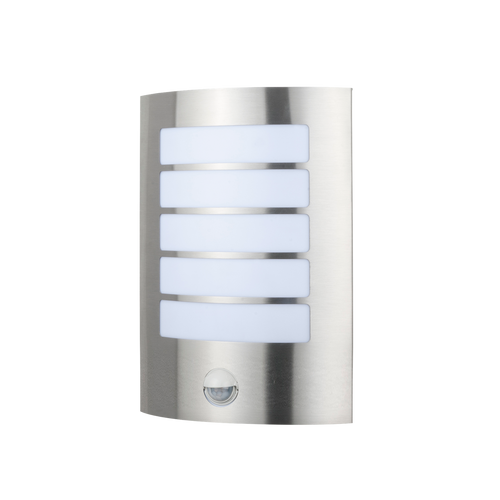 Stark Stainless Steel Wall Light - Sensor, Stainless Steel