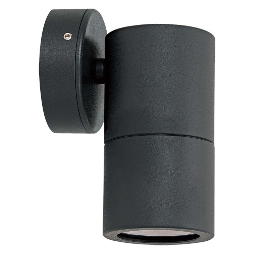 Jetson Single Fixed Outdoor Wall Light - Black