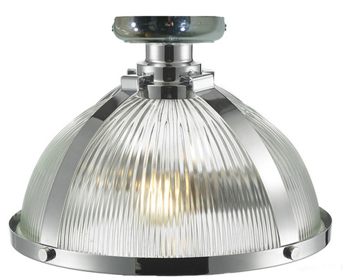 Stockton Close to Ceiling Chrome Dome Light