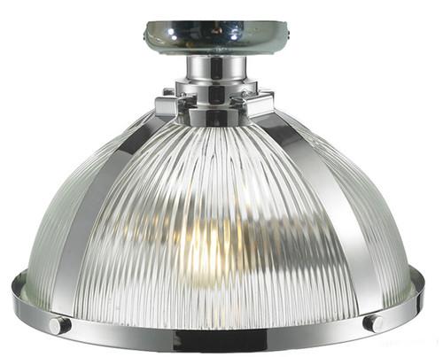 Stockton Close to Ceiling Chrome Dome Light