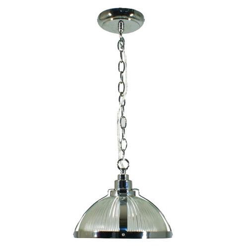 Stockton Industrial Chrome Dome Pendant Light