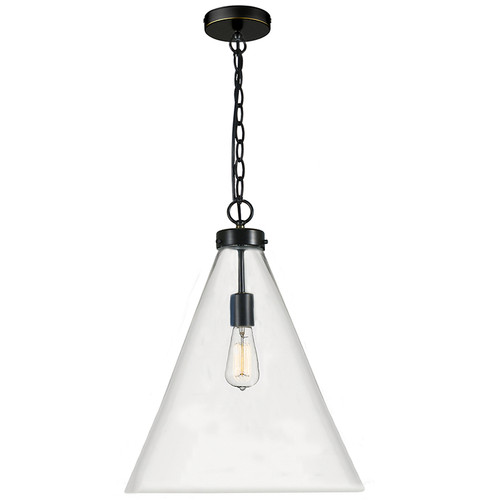 Gatsby Industrial Glassware Cone Pendant Light - Bronze
