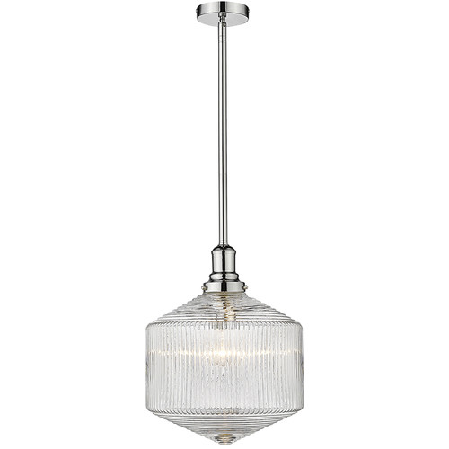 Jefferson Vintage Chrome Clear Pendant Light