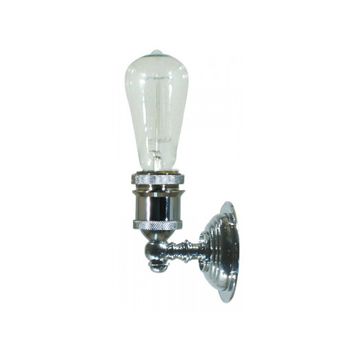 Edison 1 Light Chrome Wall Light