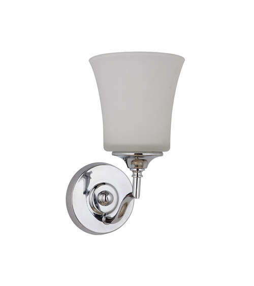 Savoy Chrome Opal Wall Light