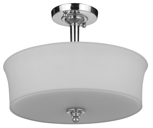 Savoy Semi Flush Chrome Opal Close to Ceiling Light
