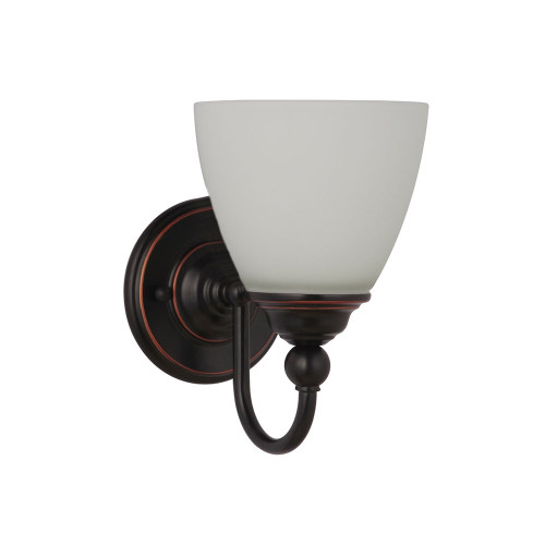 Nova 1 Light Wall Light - Bronze, Upwards