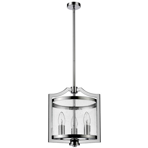 Grand 3 Light Chrome Glass Pendant Light