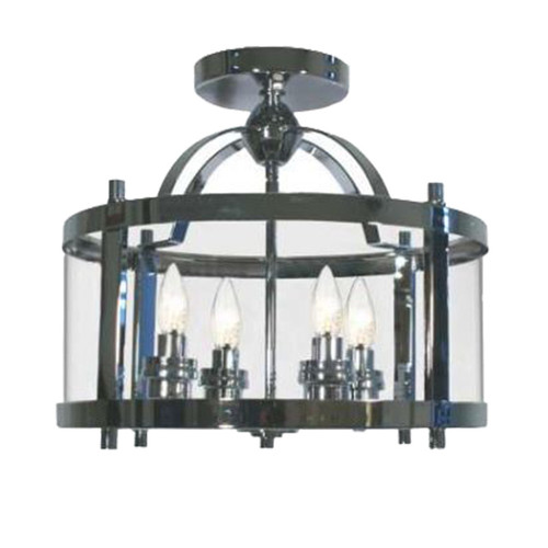 Castle 4 Light Chrome Close to Ceiling Lantern Light