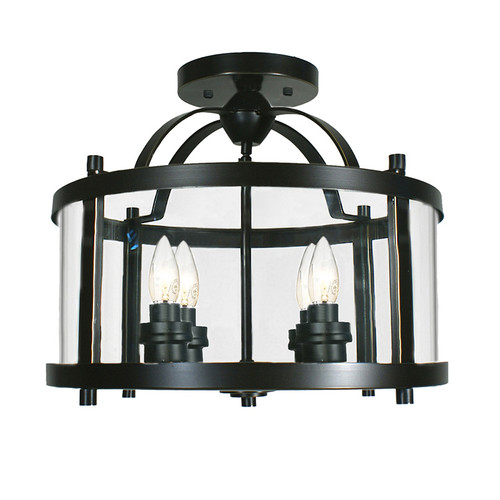 Castle 4 Light Bronze Close to Ceiling Lantern Light