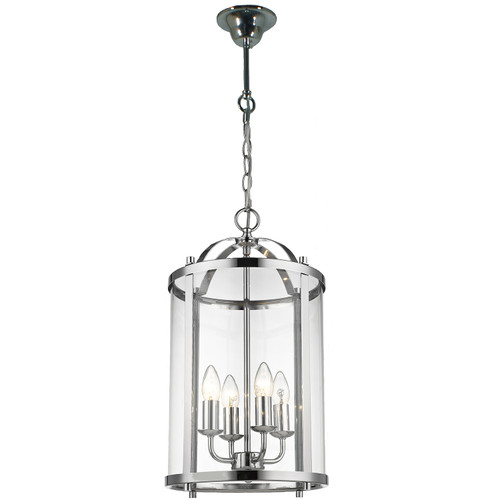 Manor 4 Light Chrome Lantern Pendant Light