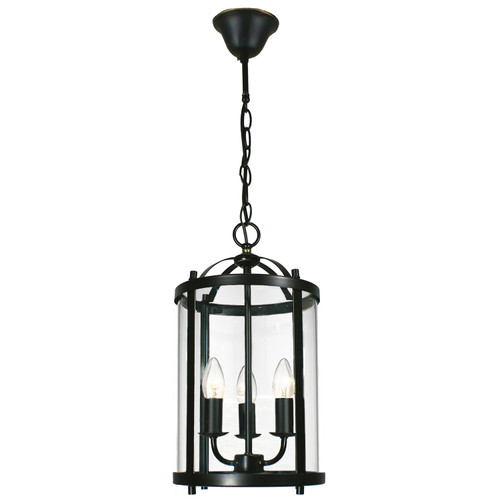 Manor 3 Light Bronze Lantern Pendant Light