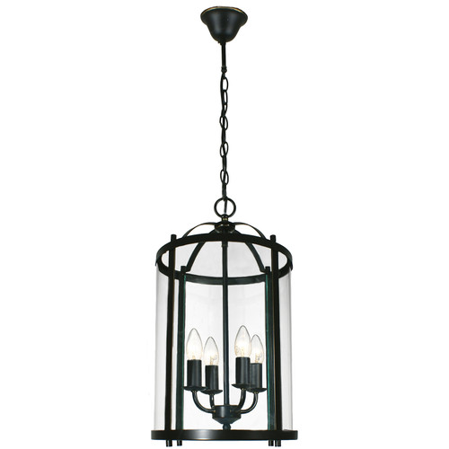 Manor 4 Light Bronze Lantern Pendant Light
